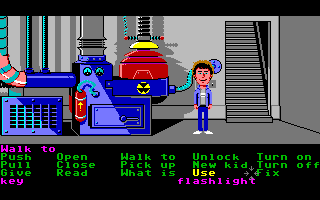 Maniac Mansion Amiga Down in the basement.