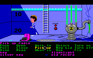 Maniac Mansion Amiga At the bottom of the pool.