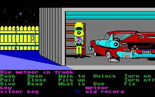 Maniac Mansion Amiga Get rid of that meteor.