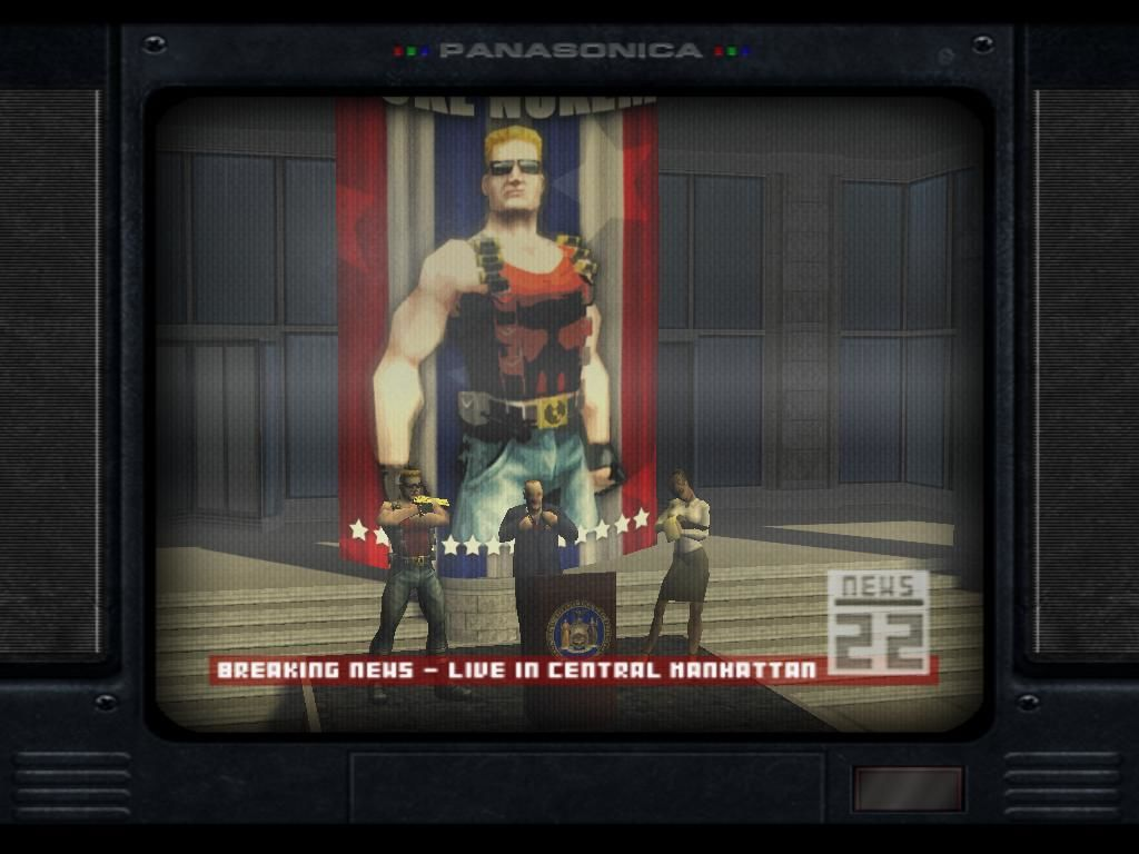 Duke Nukem: Manhattan Project Windows An Example of One of the Cutscenes