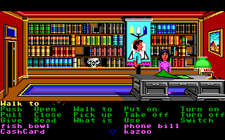 Zak McKracken and the Alien Mindbenders DOS Zak meets up with Annie.