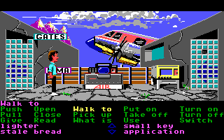 Zak McKracken and the Alien Mindbenders DOS In an airport