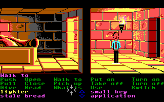 Zak McKracken and the Alien Mindbenders DOS In a Egyptian tomb