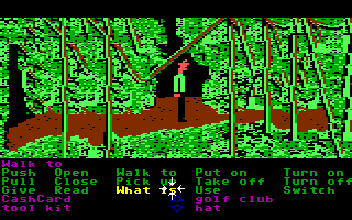 Zak McKracken and the Alien Mindbenders Commodore 64 In the jungle.