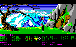 Zak McKracken and the Alien Mindbenders Amiga Looking around the wilderness.