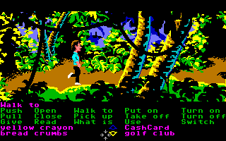 Zak McKracken and the Alien Mindbenders Amiga Trekking through the jungle.