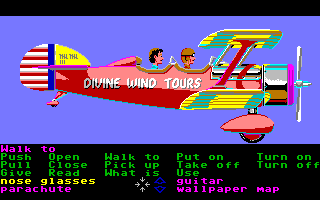 Zak McKracken and the Alien Mindbenders Amiga Flying on a tour.