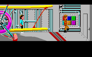 Zak McKracken and the Alien Mindbenders Amiga Inside the alien's space ship.