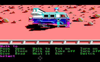 Zak McKracken and the Alien Mindbenders Amiga The planet Mars.