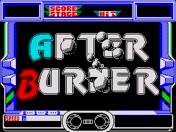 After Burner ZX Spectrum Title screen