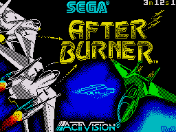 After Burner II ZX Spectrum Loading screen