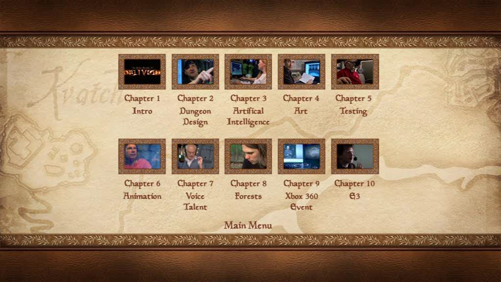 The Elder Scrolls IV: Oblivion (Collector's Edition) Windows Chapter selection