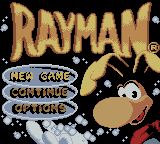 Rayman Game Boy Color Title screen