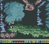 Rayman Game Boy Color Arcane Forest - a stage where the controls respond in the opposite way