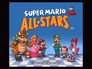 Super Mario All-Stars SNES All-Stars title screen