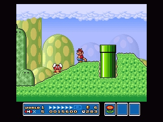 Super Mario All-Stars SNES These lame-o enemies now can fly (which doesn't make them any more effective against Mario, hehe)