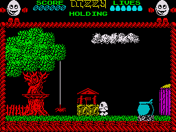 Dizzy: The Ultimate Cartoon Adventure ZX Spectrum Starting off on your adventure