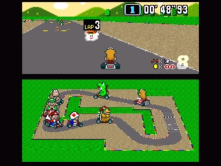 Super Mario Kart SNES Lovely lap indicator :)