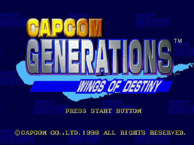 Capcom Generations PlayStation Disc 1 - Wings of Destiny: Title screen