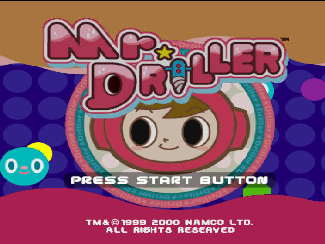 Mr. Driller PlayStation Title screen