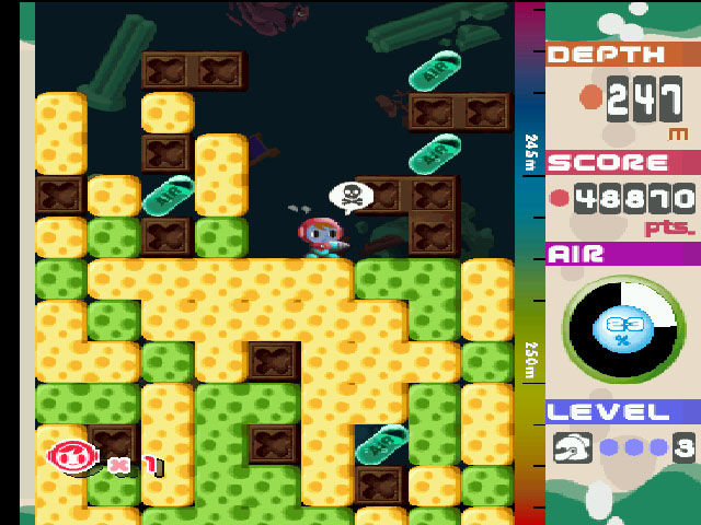 Mr. Driller PlayStation Mr. Driller's in some serious need of air right now.