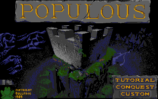 Populous Atari ST The title screen