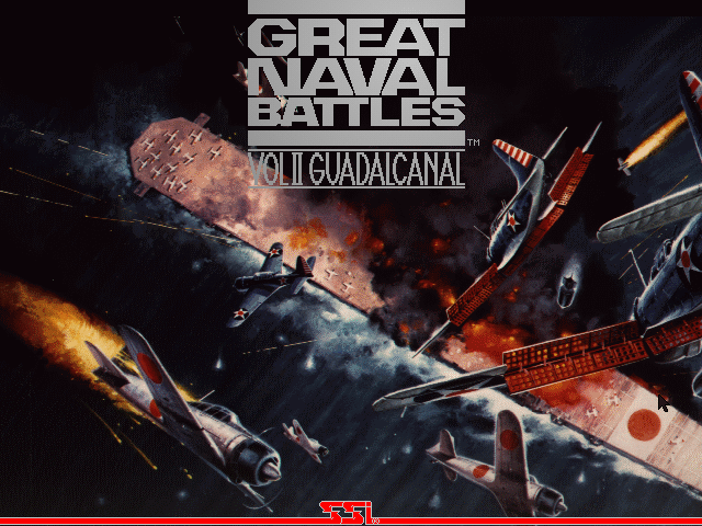 Great Naval Battles Vol. II: Guadalcanal 1942-43 DOS Title screen