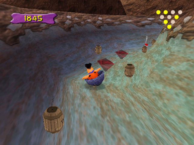 The Flintstones: Bedrock Bowling Windows Avoiding TNT on the course in the Gravel Factory