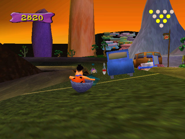 The Flintstones: Bedrock Bowling Windows Dodging cars on the Freeway