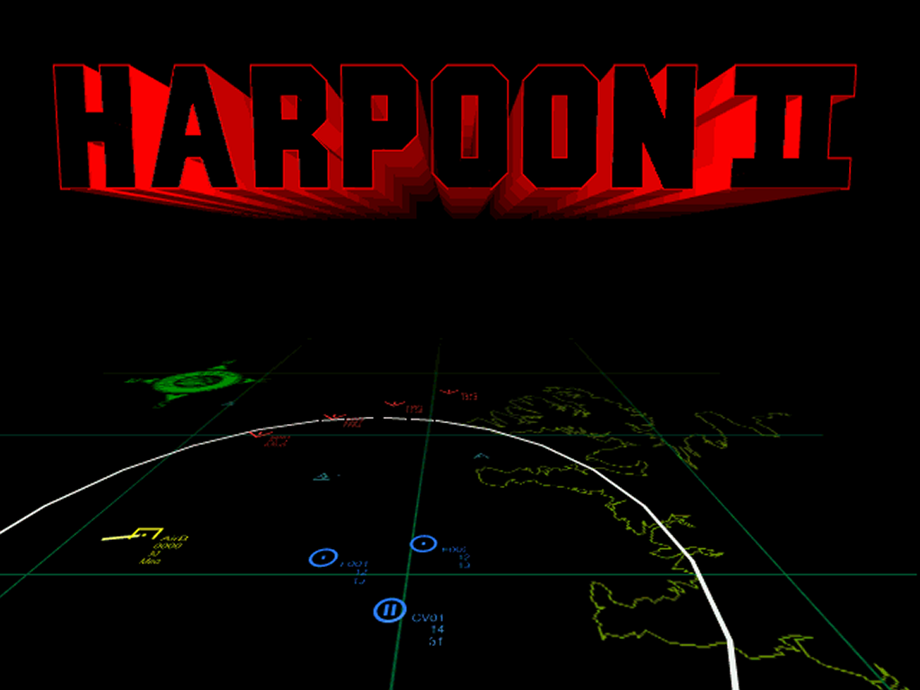 Harpoon II DOS Title screen