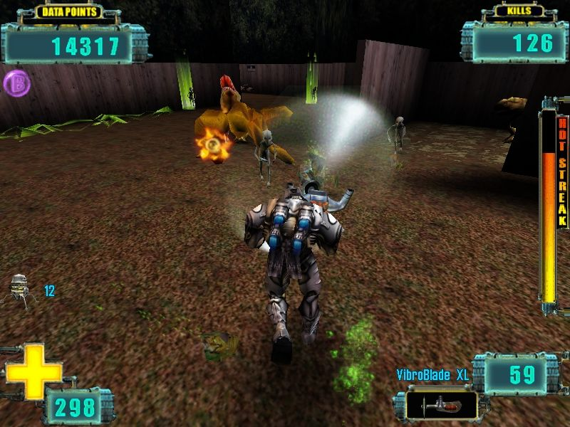 X-COM: Enforcer Windows The spinning VibroBlade XL will turn you into a lawnmower and the sectoids into grass.