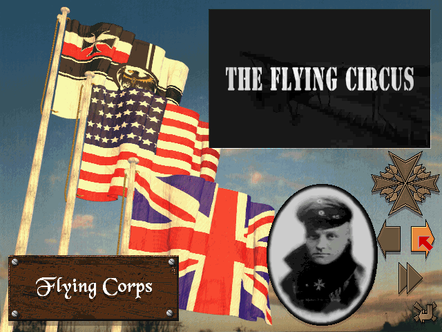 Flying Corps DOS Campaign selection screen