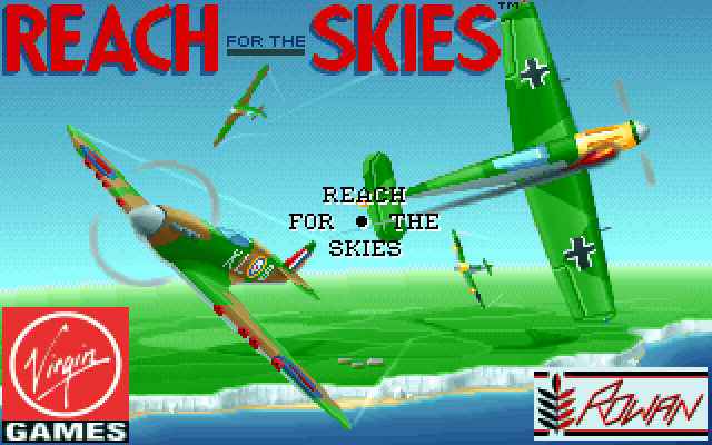 Reach for the Skies DOS Title screen