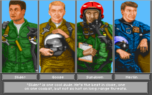 Top Gun: Danger Zone DOS Choose your RIO