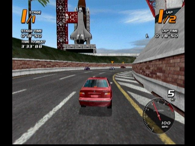 Vanishing Point Dreamcast Gotta love a game with Space Shuttles