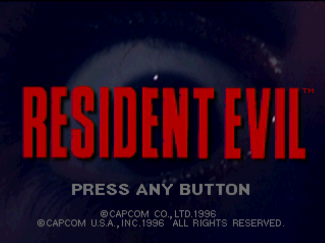 Resident Evil PlayStation Title screen