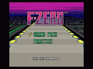F-Zero SNES Title screen