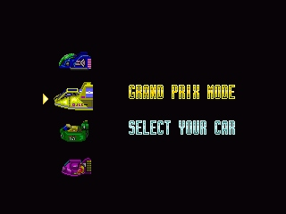 F-Zero SNES Car selection