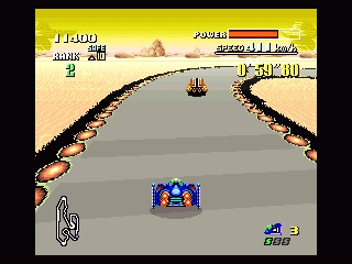 F-Zero SNES Third level with nasty curves