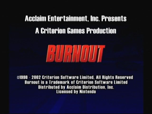 Burnout GameCube Publisher/Developer Info