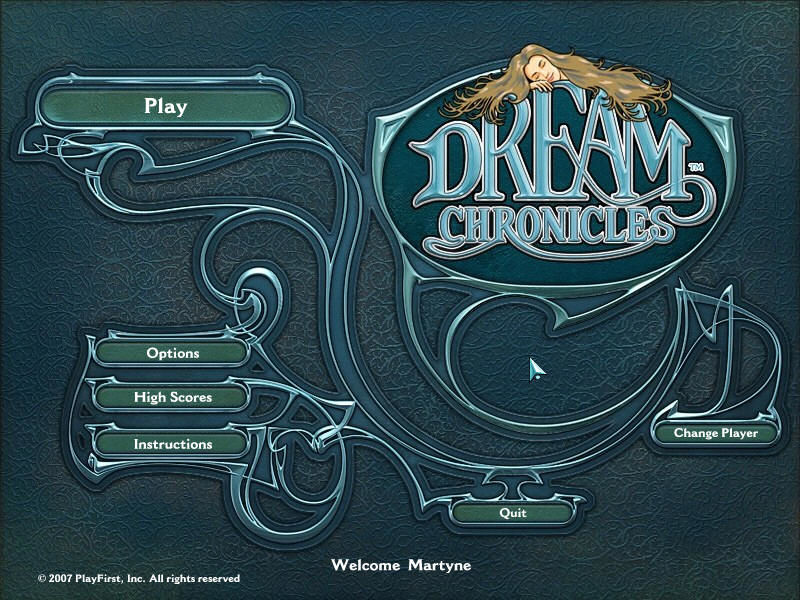 Dream Chronicles Windows Title Screen