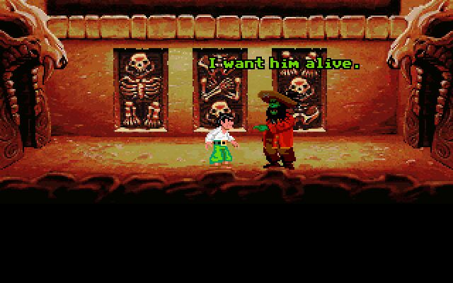 Monkey Island 2: LeChuck's Revenge DOS LeChuck wants his revenge