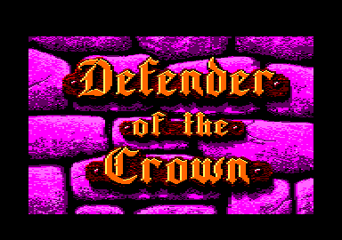 Defender of the Crown Amstrad CPC Title screen