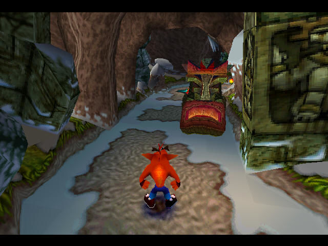 Crash Bandicoot 2: Cortex Strikes Back PlayStation Jumping stone masks sure make my life harder.