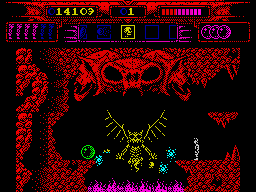 Myth: History in the Making ZX Spectrum Evil demon is guarding fourth teleport ball.