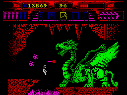 Myth: History in the Making ZX Spectrum Only tridents could harm a giant dragon.