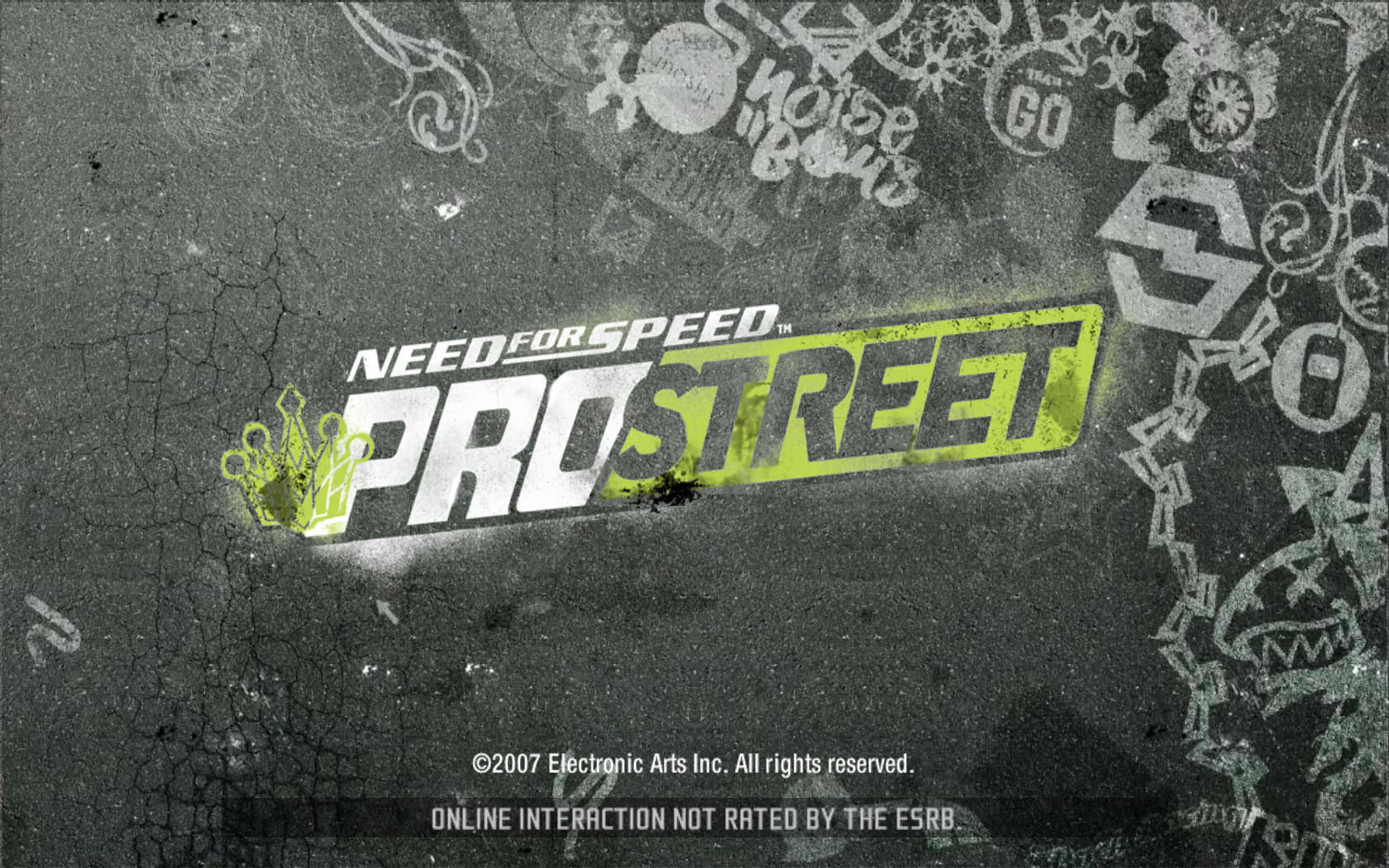 Need for Speed: ProStreet Windows Title screen