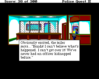 Police Quest 2: The Vengeance Amiga Inside jail