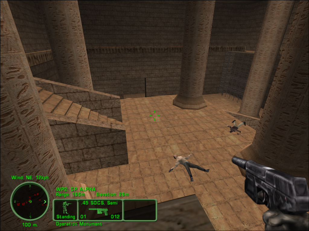 Delta Force: Land Warrior Windows Inside the pyramid