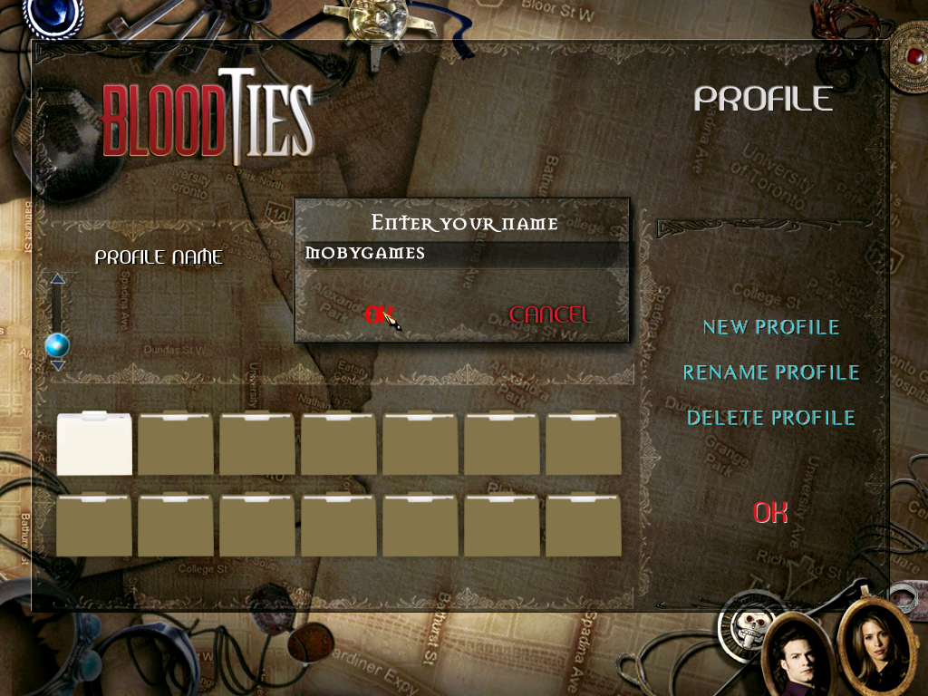 Blood Ties Windows Profile creation